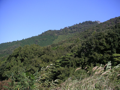 三ツ口池付近の山々
