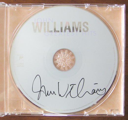 2009/10/30 ジョン・ウィリアムス サイン