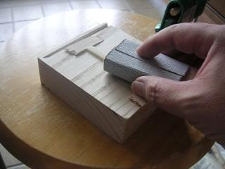サドルを削る。